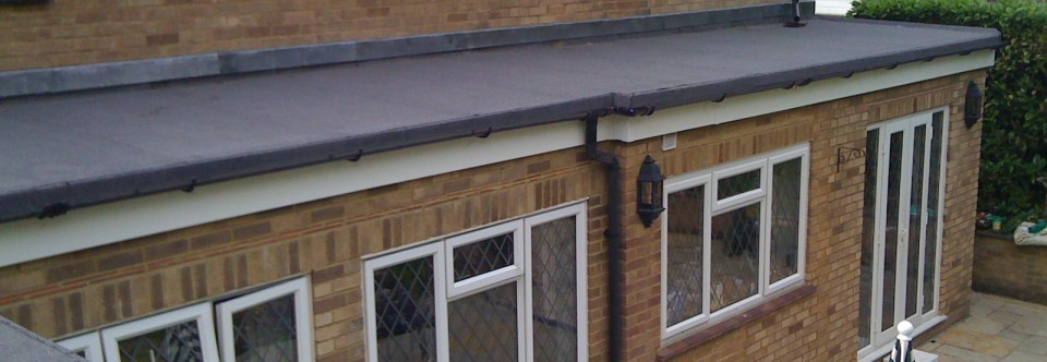Built-Up Flat Roof Covering with Insulation